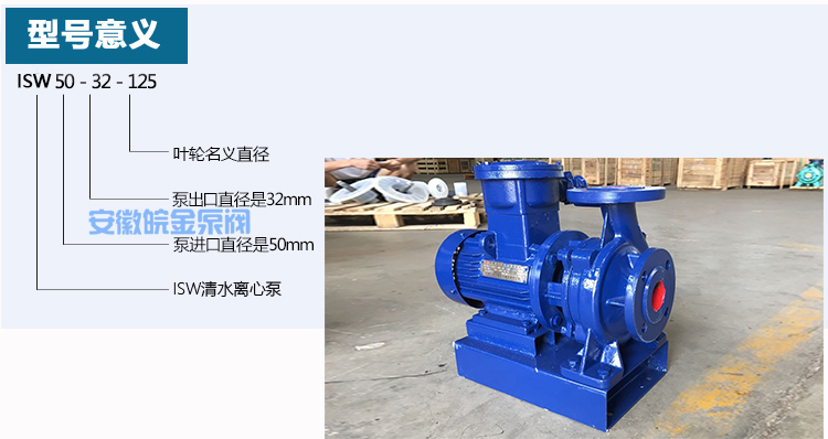 ISW卧式管道离心泵型号意义